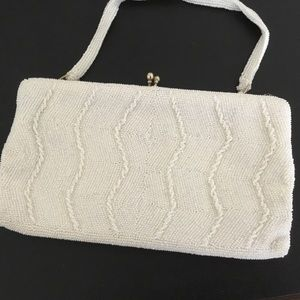 Vintage Richere beaded seed pearl evening bag